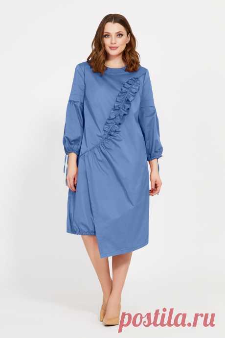 Платье Mubliz 518 джинс купить с доставкой по России | Интернет-магазин BelaRosso-shop.ru