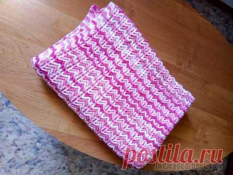 Розовый двухсторонний плед со схемой🤗🤗🤗🤗👍👍👍 Размер 90*120см крючок №4