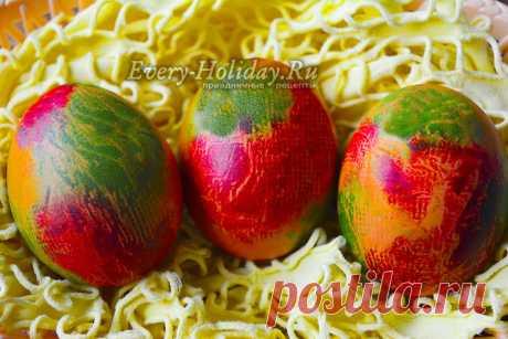 Как красить яйца на Пасху салфетками