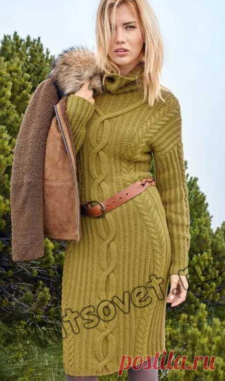 Красивое платье вязаное - Хитсовет Красивое платье вязаное. Модное красивое платье для девушки со схемой и бесплатным описанием вязания.
