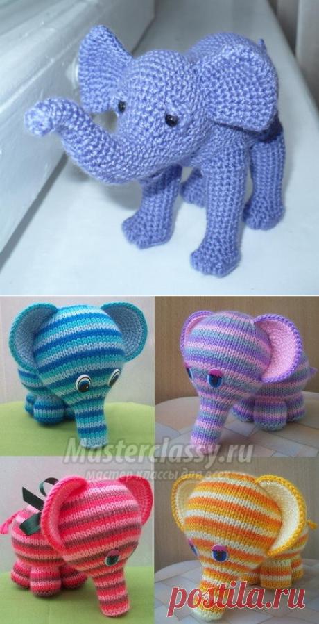 Как связать слоника крючком схемы