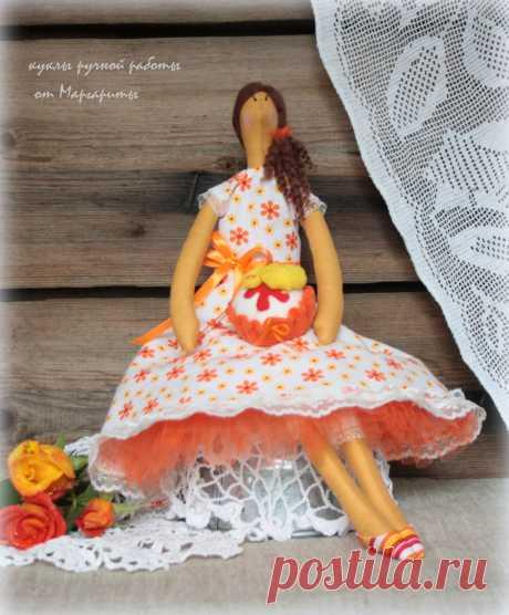 интерьерная кукла Настюша!рост 42см.Из натуральных материалов.