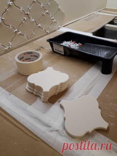 Как хозяйка сделала сногсшибательный фартук для кухни. Почти идеальный ремонт.