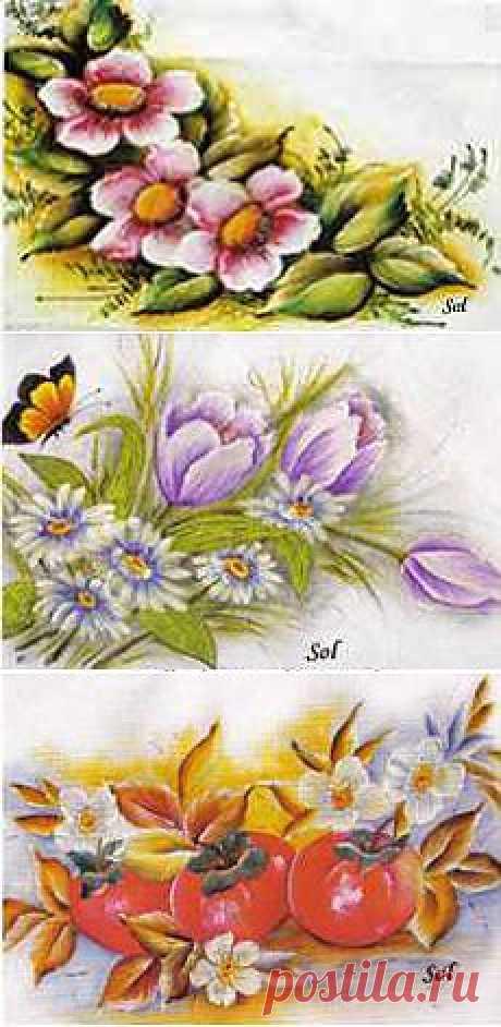 Схемы вышивки цветов » Вязание, вязание спицами, вязание крючком, Схемы вязания, вышивание, макраме, бисероплетение - все это на нашем сайте