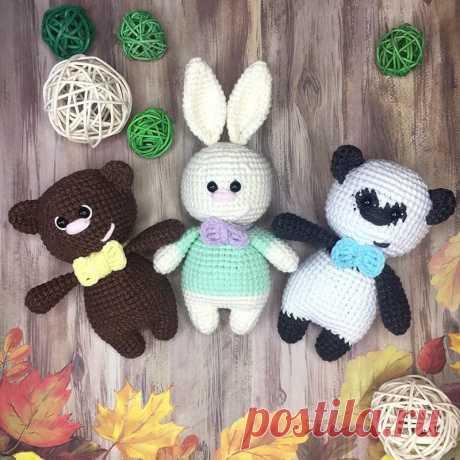 СХЕМА вязания маленьких игрушек медвежонка и зайчика амигуруми #схемыамигуруми #амигуруми #игрушкикрючком #вязаныймишка #вязанызаяц #amigurumi #amigurumipattern #freeamigurumipatterns #crochetbear #amigurumibear #crochetbunny #amigurumibunny