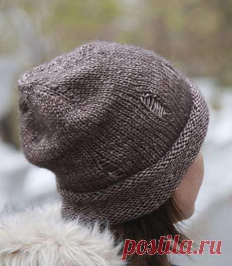 Описание шапки с дырками, лакшери рвань, Узоры для вязания спицами