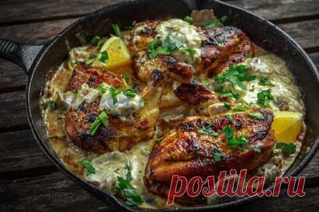 Быстрый рецепт куриной грудки в сметане | Еда от ШефМаркет | Яндекс Дзен