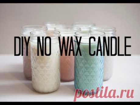 DIY ' NO WAX ' CANDLE