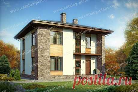 Популярный проект двухэтажного дома 13x10м тремя спальнями и террасой