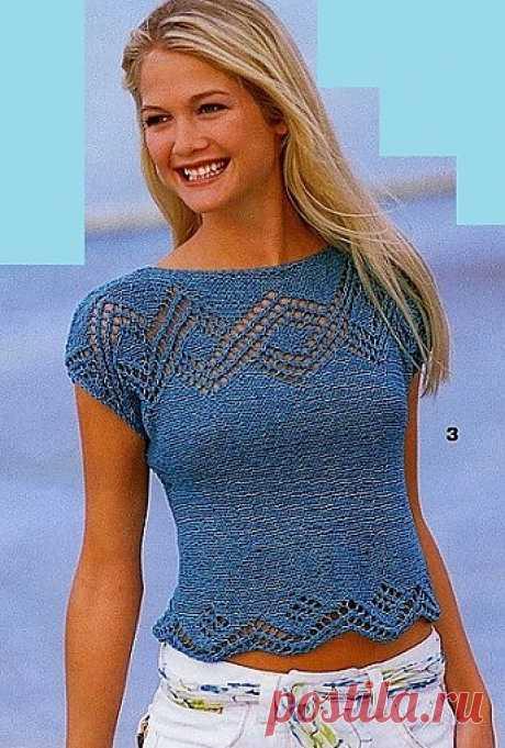 Летняя кофточка спицами / Вязание для женщин спицами. Схемы / PassionForum - мастер-классы по рукоделию