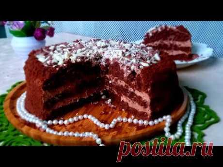 Chocolate cake/ Шоколадный торт Черный бархат.Очень вкусный. English Sybtitr