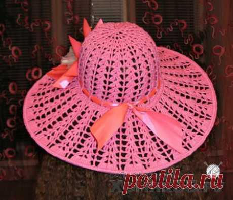 Розовая шляпка крючком » «Хомяк55» - всё о вязании