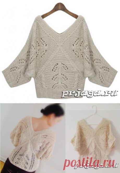 Пуловер «Призма» спицами