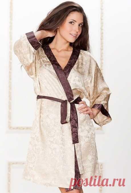 Домашний халат с простой выкройкой.