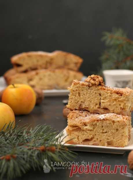 Норвежский яблочный пирог — рецепт с фото на Русском, шаг за шагом. Очень вкусный яблочный пирог, который разнообразит ваше домашнее чаепитие. Готовится с двумя видами муки. #рецепт #пирог #выпечка #кчаю #чаепитие #яблочныйпирог #яблочный_пирог