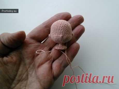 Голова для маленькой куколки / Вязание игрушек / ProHobby.su | Вязание игрушек спицами и крючком для начинающих, мастер классы, схемы вязания