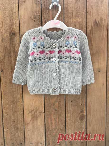 Hand knit baby cardigan Merino wool cardigan Girls merino | Etsy