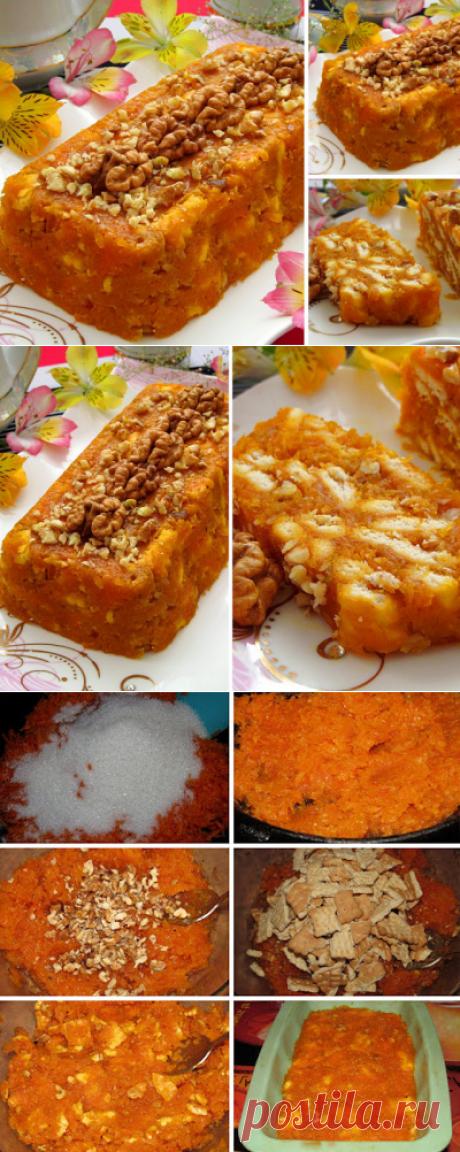 """Постигая искусство кулинарии... : Морковный торт """"Мозаика"""", без выпечки (Havuçlu Mozaik Pasta)"""