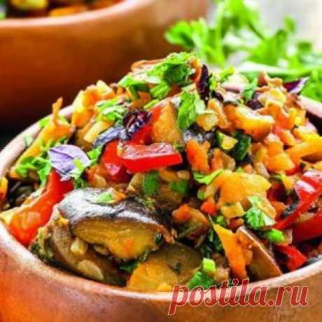 Аджапсандали. Восхитительная закуска из баклажанов по-грузински!