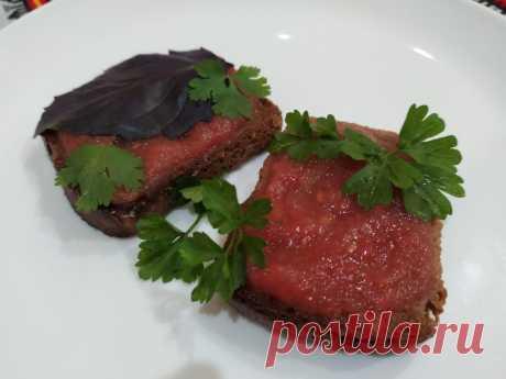 Бутерброд с помидорами. Испанская чудо - закуска. | Кулинарные рецепты