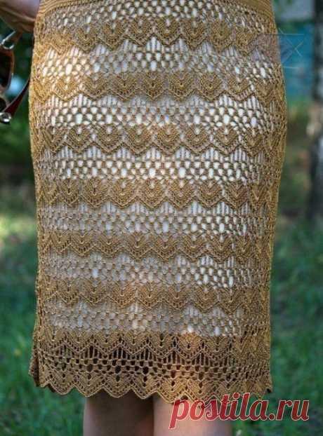 Замечательная идея для вязаной юбки