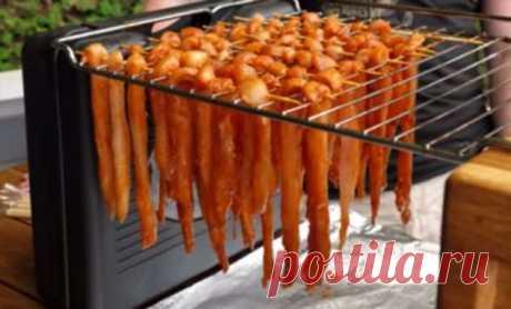 Наделали чипсов из курицы: закуска на вечер идет как семечки | Краше Всех