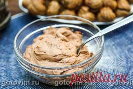 Крем Шантильи с темным шоколадом. Рецепт с фото