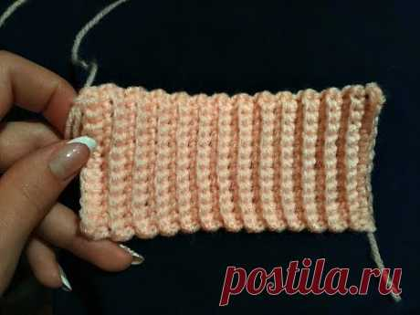 Como vincular la goma por el gancho. How to crochet elastic