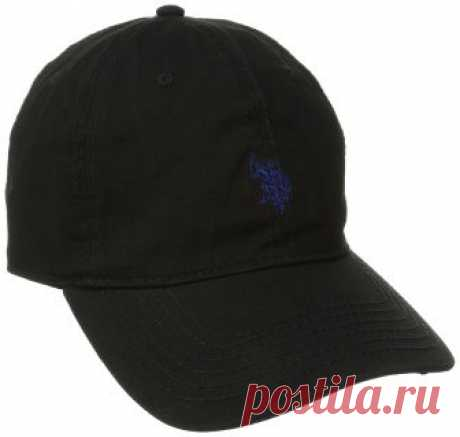 U.S. Polo Assn. Men's Small Solid Horse Adjustable Cap, Black, One Size at Amazon Men's Clothing store: