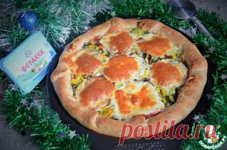 Пицца с сырными бортами Кулинарный рецепт