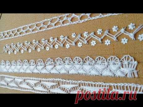 Amazing embroidery * filling stitch lace * New easy design for border embroidery #malina_gm