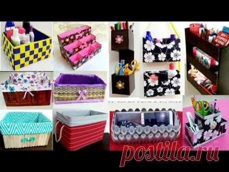 12 CARDBOARD BOXES IDEAS / 12 Cardboard Box Organizer Ideas/12 cardboard box craft ideas for storage