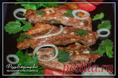 Цхаре некнеби — свиные ребрышки в аджике и мацони