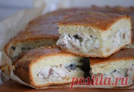 Как приготовить пирог со скумбрией - рецепт, ингредиенты и фотографии