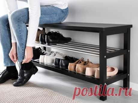 Как эстетично оформить полку для обуви в прихожей? Идеи для квартиры
