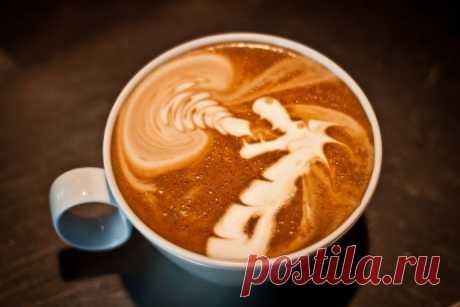 Como hacer el dibujo en el café.