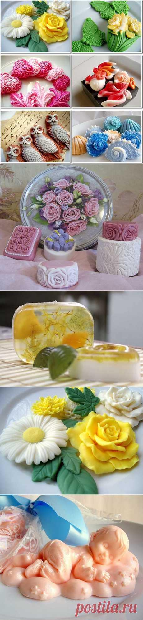 Рецепты домашнего мыла и немного идей для вдохновения.