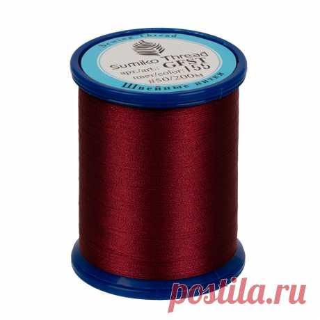 """Нитки швейные """"SumikoThread"""", цвет: №155 бордовый,"""