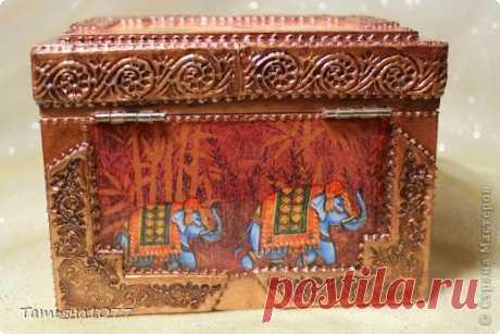 Декупаж шкатулок и имитация чеканки от Татьяны1077.