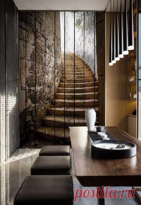 """Стеновые панели """"Лестница"""" по цене от 7500 руб./кв.м. Мин. метраж: от 4 кв.м. Срок изготовления: 7-10 дней. Дизайн-макет и виртуальная примерка в вашем интерьере БЕСПЛАТНО!"""