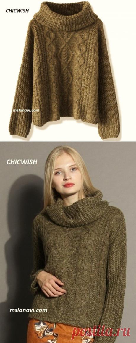 Вязаный свитер оверзайз от CHICWISH - Вяжем с Лана Ви
