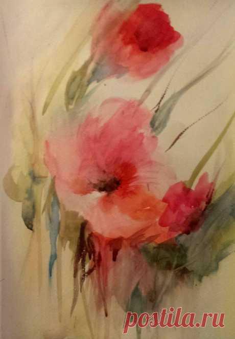(3) Елена Беляева - Друзья,соскучилась по абстракции,попробовала...