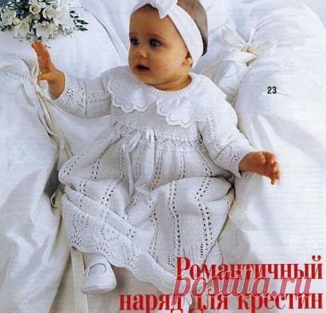 Крестильное платье спицами: 2 описания со схемами | vjazem.ru Если вы хотите связать крестильное платье спицами — то эти 2 модели с описанием и схемами — то, что вам нужно! Нежные, красивые с ажурным узором, длиной до пола, с расклешенной юбкой — выбирайте то, что вам больше понравится! Первое платье, с воротничком вяжется спицами № 2 и 2.5 из полушерстяной пряжи. Предназначено оно для …
