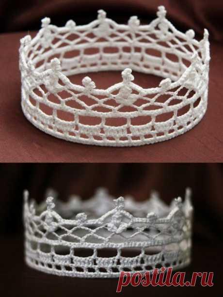 Короны вязаные крючком