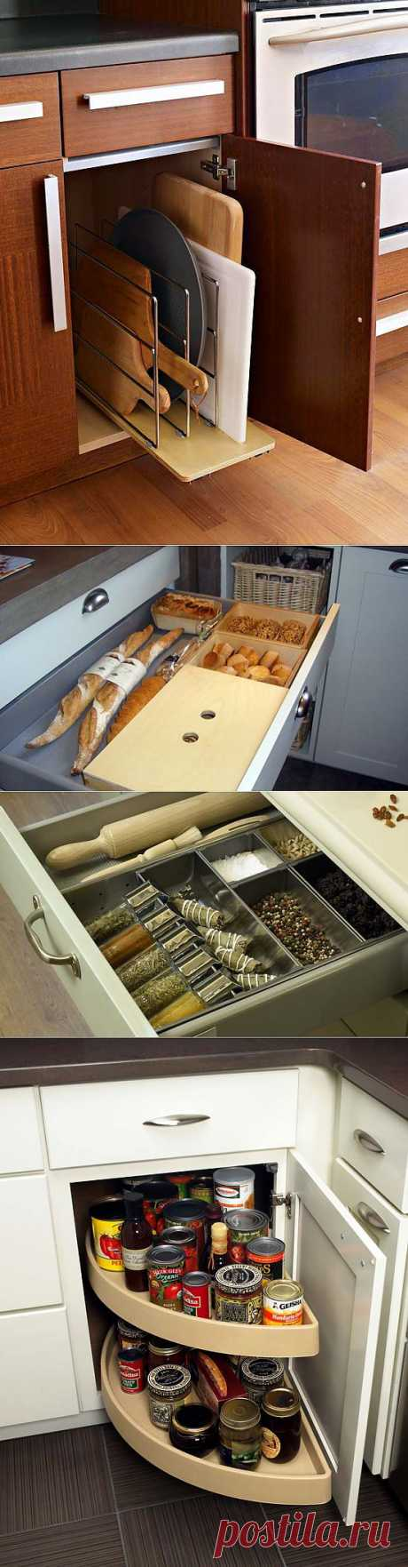 The organization of storage in kitchen | Photos of beautiful interiors