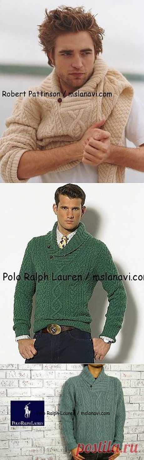 Вязаный пуловер для мужчин от Polo Ralph Lauren | Вяжем с Ланой