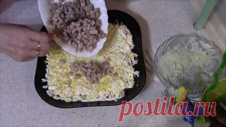 Вкусный салат со свининой