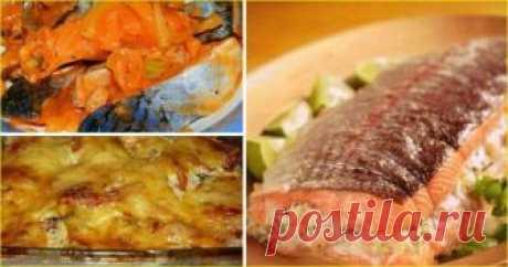 25 рецептов из рыбы. Замечательная подборка 1. Обалденная запеченная рыбка Получается изумительная хрустящая сырная корочка! И рыбка, и картошка в сливках со специями приобретают нежный пикантный вкус! Быстро, легко и вкусно! Рецепт для уютного семейного ужина, все будут довольны и сыты. Ингредиенты: 5-6 картофеля 500 гр рыбы 2 помидора 1 большая луковица сыр зелень сливки Приготовление: Картофель режем кружочками потоньше, лук …
