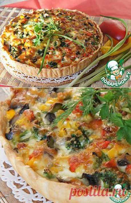 Вегетарианский овощной киш - кулинарный рецепт