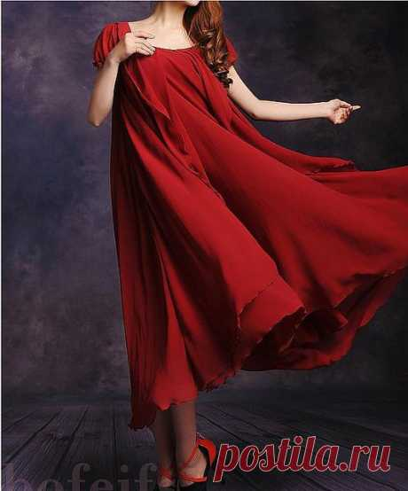 Fancy - NEW WOMEN'S MAXI CHIC CHIFFON VINTAGE LONG BALL PARTY IRREGULAR EVENING DRESS